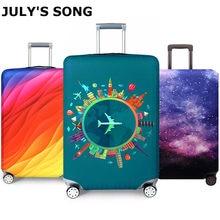 Mais grosso viagem bagagem capa protetora mala caso capa acessórios de viagem elástica capa de bagagem aplicar a 18-32 polegada mala