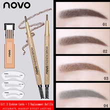 NOVO EyeBrow Pencil Cosmetics Makeup Long Lasting Waterproof Black Brown 3 Eyebr