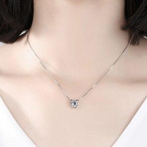 Image 5 - Женский кулон на помолвку BOEYCJR, элегантное ожерелье из серебра 925 пробы 0.5ct/1ct/2ct F, Подарок на годовщину