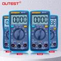 Multimètre numérique compte rétro-éclairage ampèremètre ca/cc voltmètre Ohm testeur Portable multimètre poche voltmètre