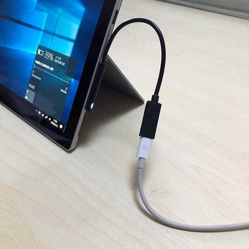 0.2M dişi USB-C şarj kablosu yüzey Pro için 6/5/4/3 yüzey dizüstü bilgisayar 1/2, 45W 15V PD şarj kablosu