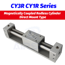 SMC type CY3R6 CY1R10 Magnetically Coupled Rodless Cylinder Direct Mount Type Bore 6 10mm stroke 50-300mm Built-in magnet AIRSLG cy1b40 485 smc type rodless cylinder 40mm bore 500mm stroke high pressure cylinder cy1b cy3b series