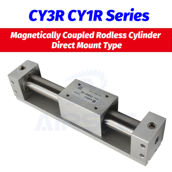 SMC type CY3R6 CY1R10 Magnetically Coupled Rodless Cylinder Direct Mount Type Bore 6 10mm stroke 50-300mm Built-in magnet AIRSLG cy1s 20mm bore air slide type cylinder pneumatic magnetically smc type compress air parts coupled rodless cylinder parts sanmin