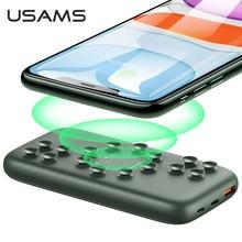 Usams Qi Draadloze Power Bank 10000Mah Powerbank Oplader Voor Iphone Samsung Snelle Opladen Qc 3.0 18W Pd Draagbare externe Batterij