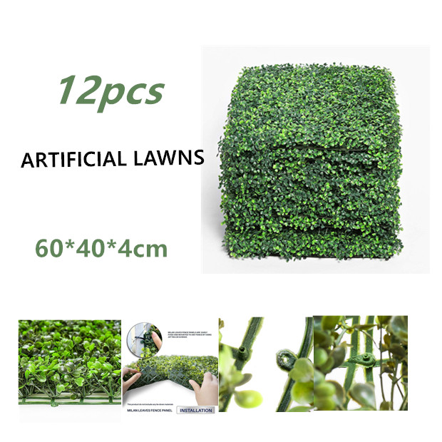 12PCS 60*40cm Artificial Garden Hedge  garden decoration  fake walls  for Birthday party Wedding anniversary