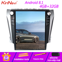 KiriNavi Vertical Screen Tesla Style 12.1'' Android 8.1 Car Radio GPS Navigation For Toyota Camry Car Dvd Multimedia 2012 2015