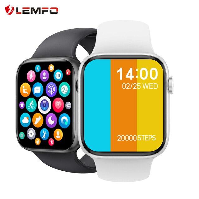 LEMFO Smartwatch Men Women PK iwo 13 13 pro iwo w26 w46 Bluetooth Call Customized Dials 1.75 inch 320*385 Weather Smart Watch 1