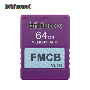 Image 5 - Bitfunx مجاني Mcboot بطاقة الذاكرة FMCB لوحدة التحكم PS2 سوني بلاي ستيشن 2 لعبة فيديو بطاقة اللون الأزرق 64MB