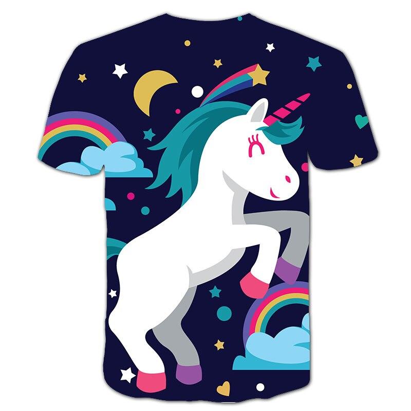 Ha06ccd88f29a4ded83ef45706555c36aG Baby Girls T-shirt 4 5 6 7 8 9 10 11 12 13 14 Years Unicorn Kids T Shirt Children Clothes Summer Unicorn T shirts Girl s Tee