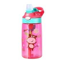 480ML Baby Cartoon Drink Water Cup Kids Cute Juice Training Bottle Cups Handle Strap Infant Children Learn Drinking