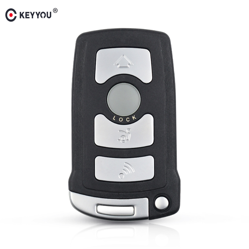 KEYYOU 2pcs/lot 4 Buttons Fob Case For <font><b>BMW</b></font> 7 Series E65 E66 E67 E68 <font><b>745i</b></font> 745Li 750i 750Li 760i 7 Remote Car Key Shell image