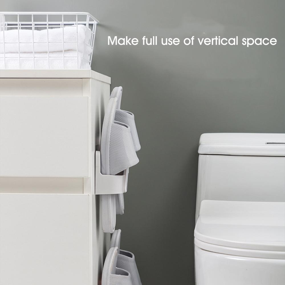 Тапочки держатель стена крепление складывание хранение стеллаж 2 пары обувь стеллаж органайзер для ванной кухни дома подвес крючок органайзер