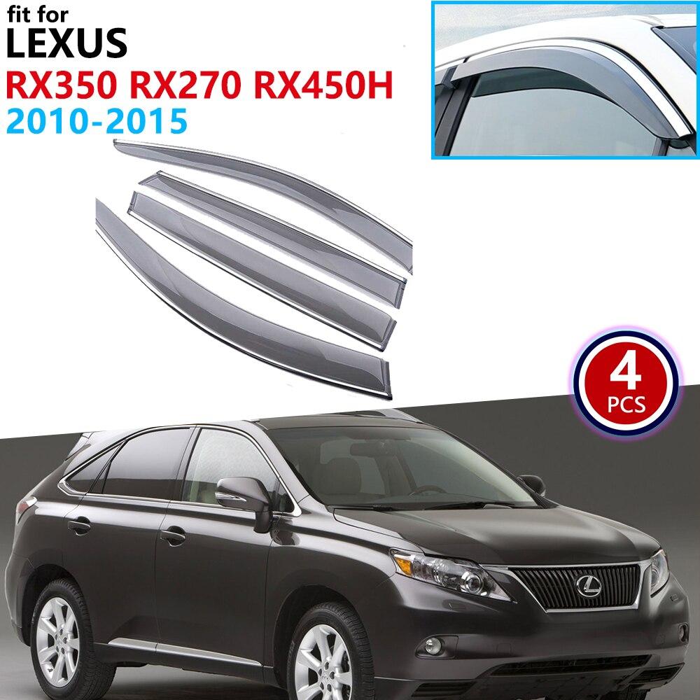For Lexus RX270 RX350 RX450h AL10 2010 2011 2012 2013 2014 2015 Window Visor Vent Awnings Rain Guard Deflector Cover Accessories