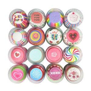 Футляр для кексов на день рождения 100 шт., бумажные чашки для кексов, чехол для тортов, кондитерские инструменты для украшения тортов