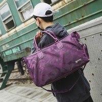 Волновая печать уличная мода нейлон путешествия тренажерный зал Йога Спортивная сумка с обувным отделением