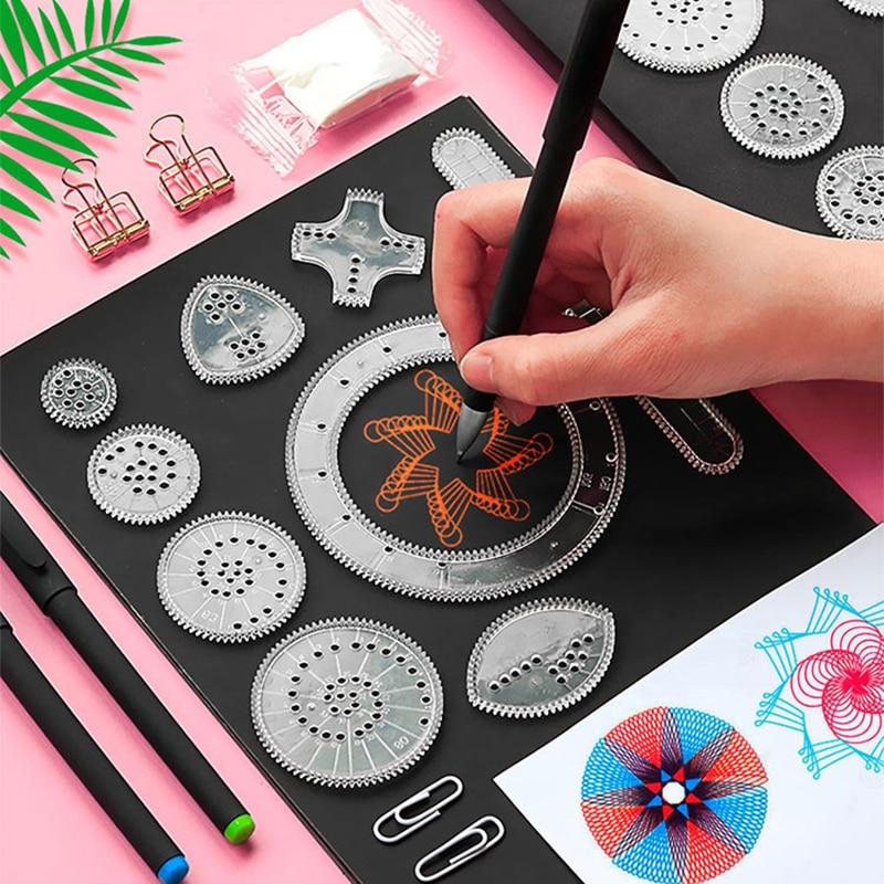 22 шт., набор игрушек-спирографов для рисования