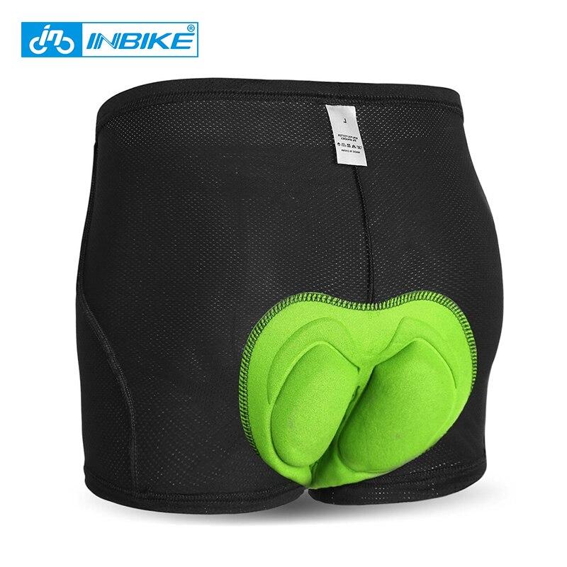 Inbike ciclismo roupa interior dos homens gel de silício bicicleta montanha mtb shorts equitação do esporte roupa interior respirável calças curtas