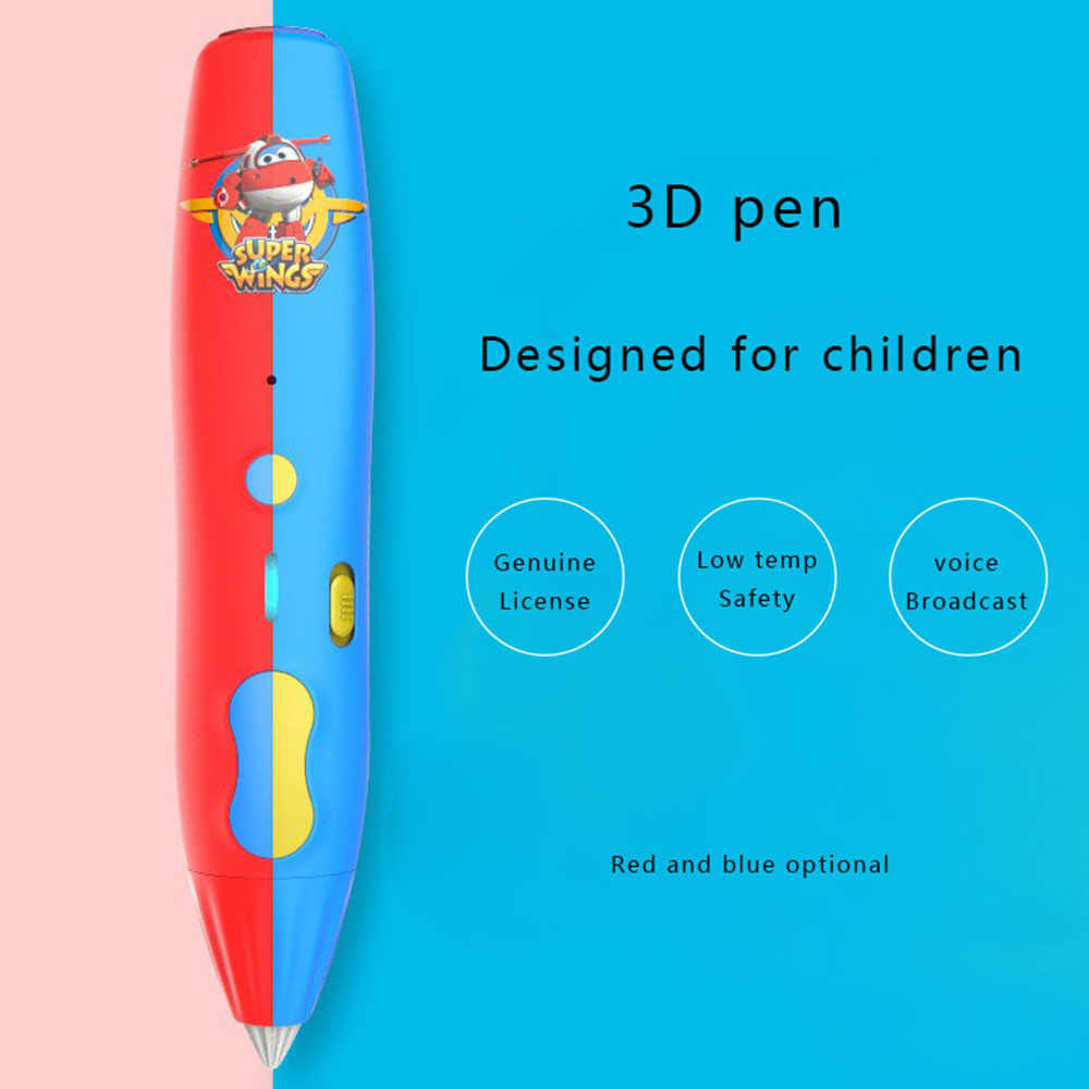 Anak 3D Cetak Pulpen Bekerja Pada Suhu Rendah 3D Pena Gambar dengan 6 Meter PCL 1.75 Mm Filamen smart Doodler DIY