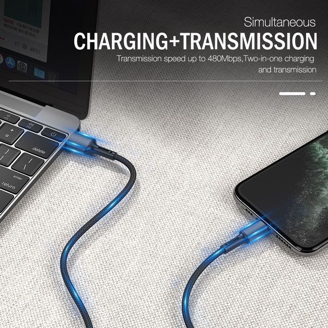 3A Fast Charging USB Charger Cable For iPhone 12 11 Pro X XR XS Max 6 6s 7 8 Plus 5s SE 2020 iPad Origin Data Cord Long Line 3m 4