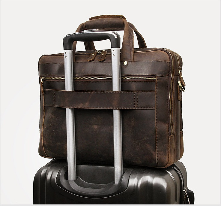 Ha06dd9682f804f298f7a0e35927db388U MAHEU Vintage Leather Mens Briefcase With Pockets Cowhide Bag On Business Suitcase Crazy Horse Leather Laptop Bags 2019 Design