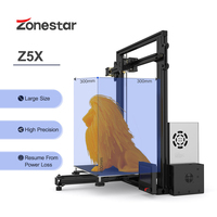 ZONESTAR Z5X Large Size Option Dual Extruder Automatic Mixing Color Full Metal Aluminum Frame 3D Printer DIY Kit Low Price
