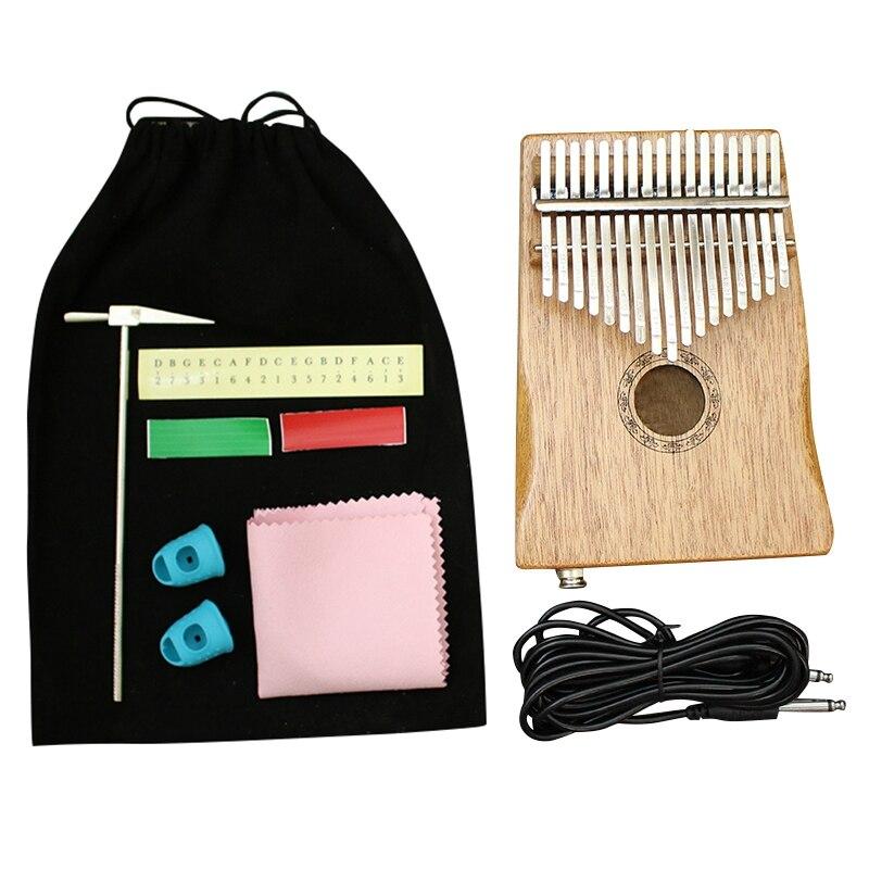 Quality 17 Key Kalimba African Mahogany Thumb Finger Piano Sanza Mbira Calimba Play With Guitar Wood Musical Instruments