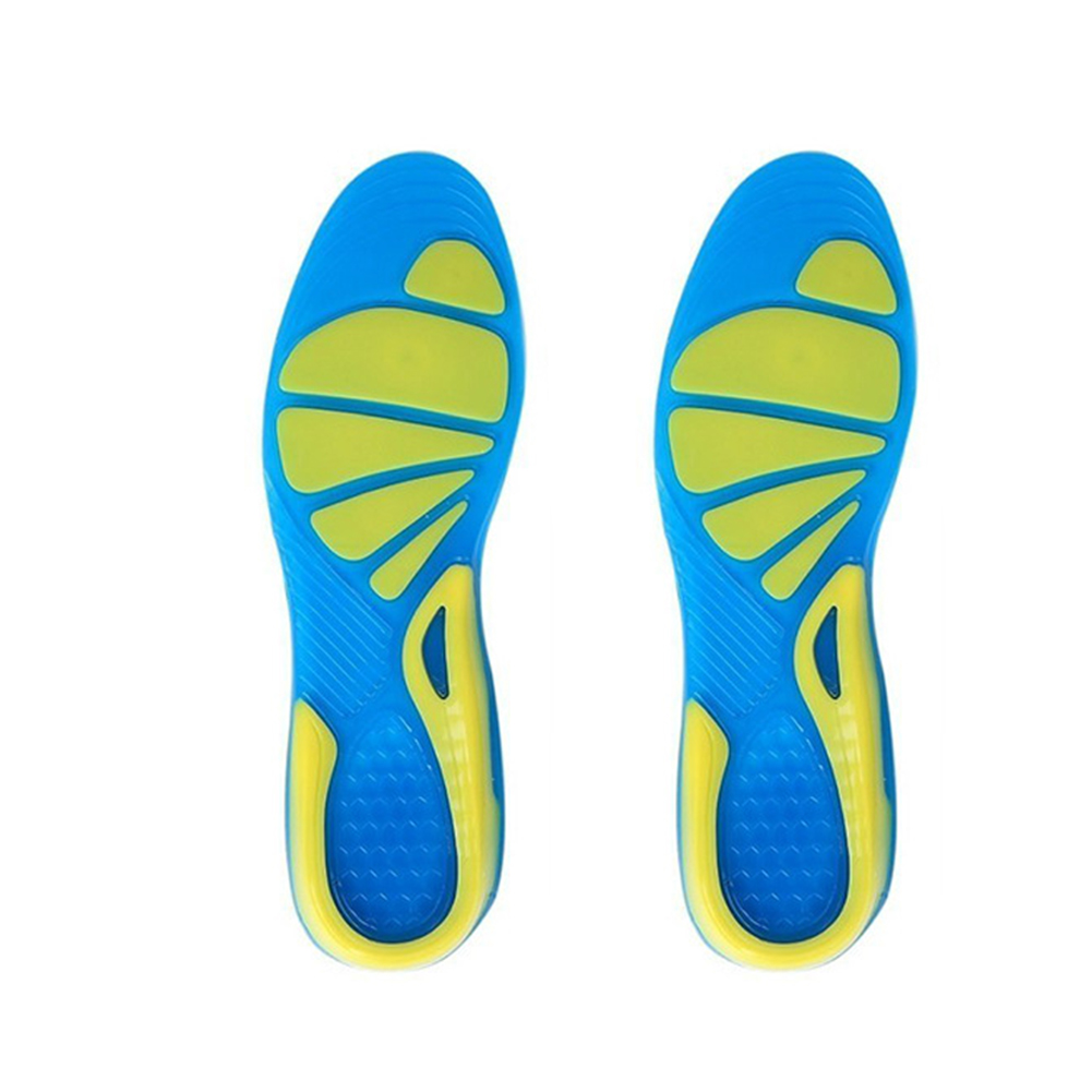 Military Insert Non-Slip Sport TPE Stable Shock Absorption Orthopedic Insole Cushion Unisex Foot Care Shoe Pad Running Walking