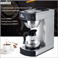 Xeoleo Commerical Coffee brewer Cafe American machine hot plate Full-Automatic Coffee machine  with Coffee Pot Coffee maker