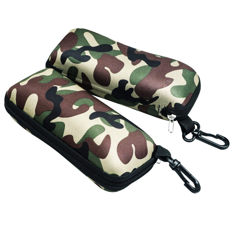 New Outdoor Zipper Camouflage Cloth Glasses Case Fashion Lightweight Sunglasses Box Thickened Shockproof Compression For People