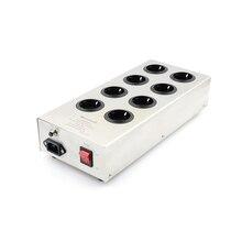 Monosaudio purificador de fuente de alimentación de audiófilo, enchufe Schuko de 8 vías, E800, HiFi