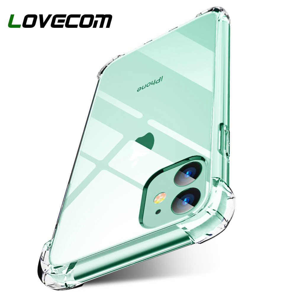 LOVECOM Ultra Slim HD Transparent Shockproof Phone Case For iPhone 11 Pro Max XS Max XR 6 6s 7 8 Plus Protective Soft Back Cover