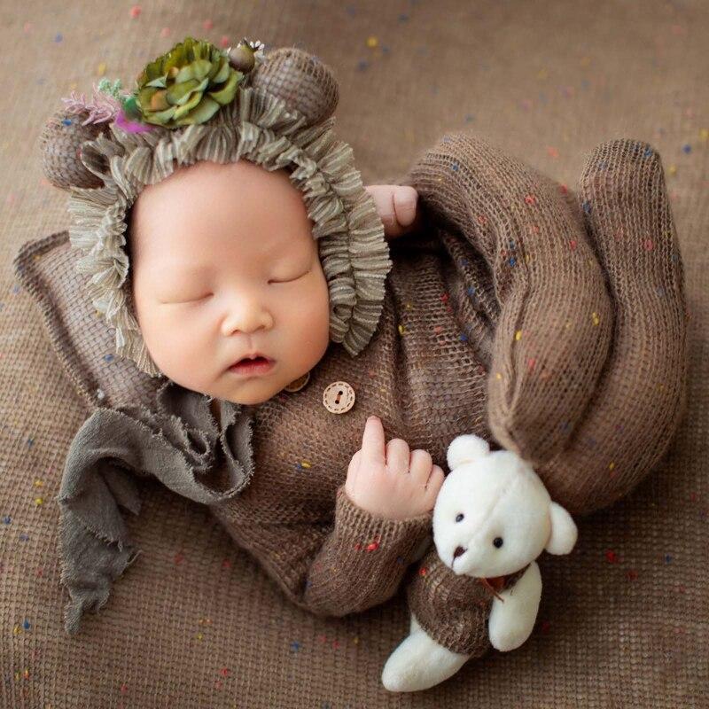 1 комплект шапка подушка для младенцев комбинезон Кукла Медведь