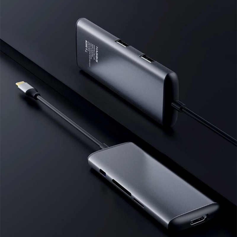 Original Xiaomi mijia Hagibis 6 in 1 Type-c to HDMI USB 3.0 TF SD Card Reader PD Charging Adapter HUB for iPhone Mobile Phone