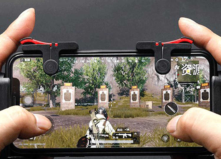2 unidades de controlador de teléfono móvil PUBG Moible Gamepad Free Fire L1 R1 disparador juego Pad Grip Joystick para iPhone Android accesorios con caja