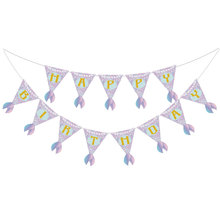 Mermaids Party Decoration Banner Baby Shower Happy Birthday Banner Kids Boy Girl Party Supplies Birthday Bunting Garland Flags space banner party decoration baby shower birthday banner party supplies kids boy girl birthday decoration bunting garland flags