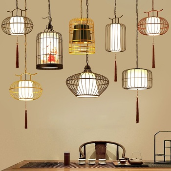 Chinese Iron Pendant Lights Dining Living Room Bar Home Restaurant Pendant Lamp Lantern Living Room Hanging Furniture Decoration modern pendant lights spherical design white aluminum pendant lamp restaurant bar coffee living room led hanging lamp fixture