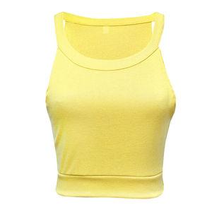 Image 2 - Sought After Women Crop Tops Casual Summer Beach Vest T Shirt Sleeveless Tank tops Streetwear Summer Tops Women Clothes 2019