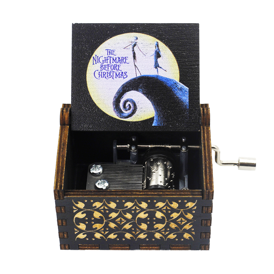 Anonymity  wooden Hand-Crafted Jack Sparrow from Pirates of the Caribbean plays melody Davy Jones Music Box 5