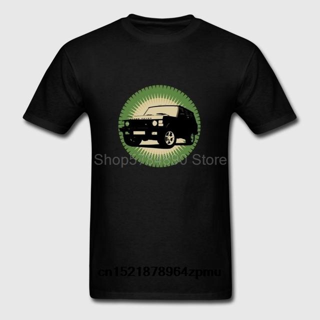 Męska koszulka Range Rover klasyczna moda na śmieszny t-shirt nowatorski tshirt dla kobiet tanie tanio Krótki CN (pochodzenie) O-neck regular Suknem COTTON Modalne Na co dzień Drukuj