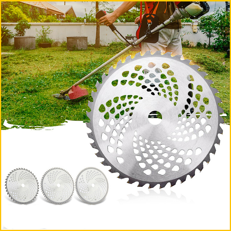 1pc 255mm 40T/60T/80T Brush Cutter Blade Lawn Mower Cutter Replacement Circular Saw Blade For Cutting Grass Tree Trimmer Blade