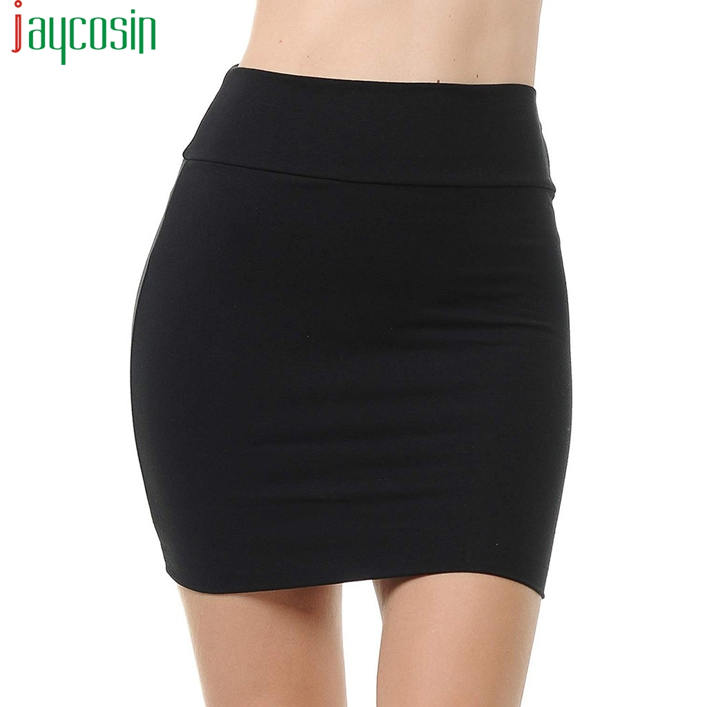 Mini Skirt Women Elegant Solid Color Loose Fashion Female Short Skirt Breathable Ladies Plus Size Stretchy Tube Pencil Skirt