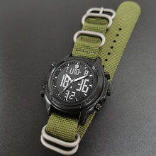 Multi-functional digital watch NATO nylon Waterproof Luminou