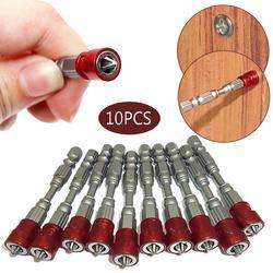 """10 sztuk śrubokręt magnetyczny płyt gipsowo kartonowych wkrętak Bit Ph2 śrubokręt phillips bity 1/4 """"uchwyt sześciokątny do elektronarzędzi w Śrubokręty od Narzędzia na"""