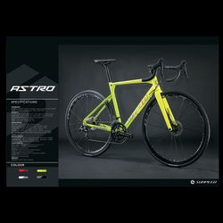 Sunpeed ASTRO Shimano Sora żwiru przygoda rower z hamulce tarczowe  bardzo szerokie opony  i widelec z włókna węglowego idealny do drogi lub brud Tr w Rower od Sport i rozrywka na