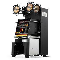 Frete grátis para RU Elétrica do aço Inoxidável Totalmente automatic Bolha Xícara de Chá de Vedação Máquina de 420W 500 650 copos/Hr|Peças de ferramentas| |  -