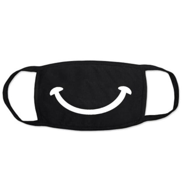 Men Women Kpop Mask Winter Mask Cute Teeth Smile Bear Mask Party Cotton Cool Travel Mask Decorative Black Props 5