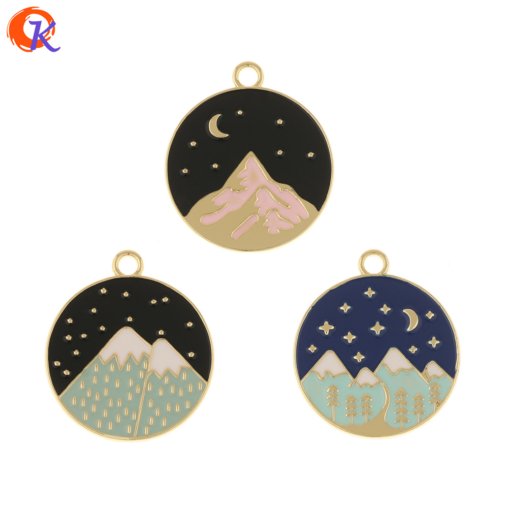 Cordial Design 50Pcs 25*29MM Jewelry Accessories/Pendant/Hand Made/DIY Making/Paint Effect/Round Shape/Charms/Earring Findings