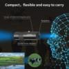 ED 8X20-METAL tactical telescope monocular telescope black, portable and convenient