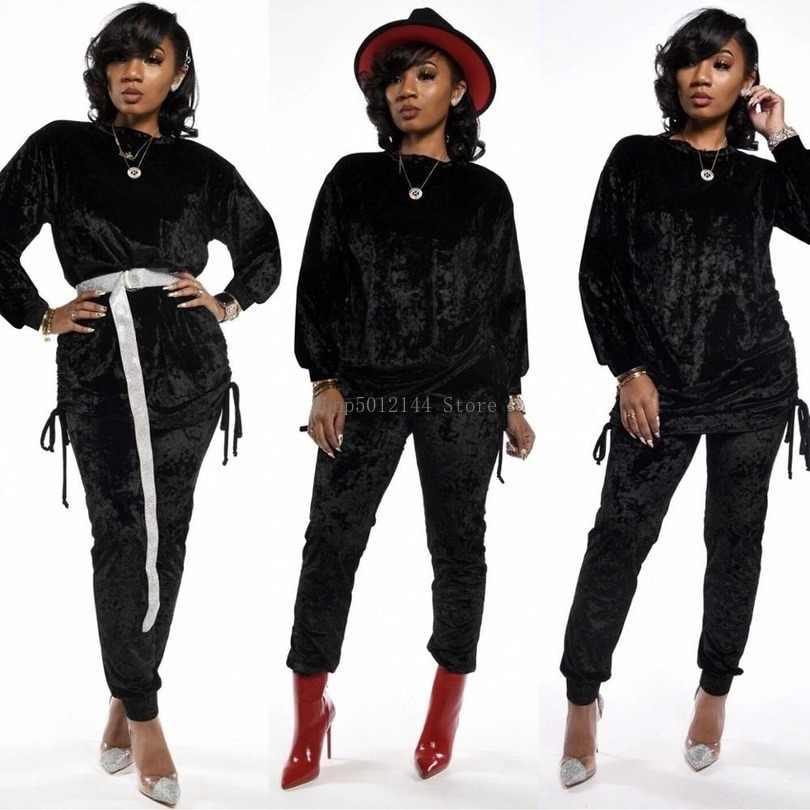 Größe (S ~ XXL) 2019 afrikanische kleidung design Dashiki kleider afrikanische herbst/winter pleuche casual anzüge für dame/frauen