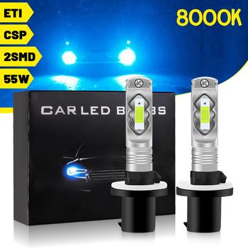 LED Car Headlight 8000K 880 881 9005-HB3 9006-HB4 H1 H3 H4 H7 H8 H9 H11 H16 H10-9145 Headlight Front Fog Lamps Light 55W image